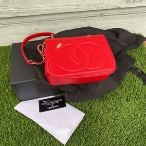 Chanel 18B flap mania RED